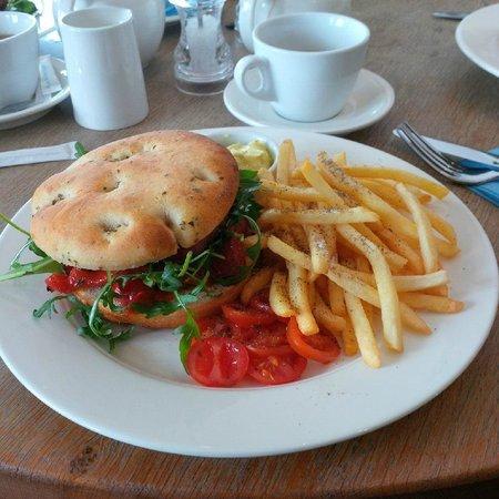 Thyme and Tides Deli: Chorizo Burger