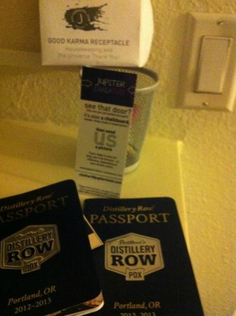 Jupiter Hotel: Distillery Row Package (passport for local distilleries in Burnside)