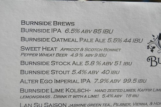 Burnside Brewing Company: Unusual (but Tasty) Local Beers