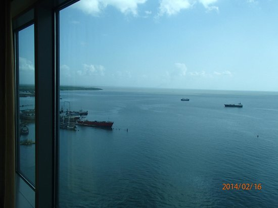 Hyatt Regency Trinidad: Sea view from the 18th floor