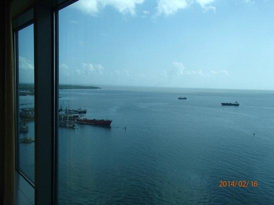 Hyatt Regency Trinidad : Sea view from the 18th floor