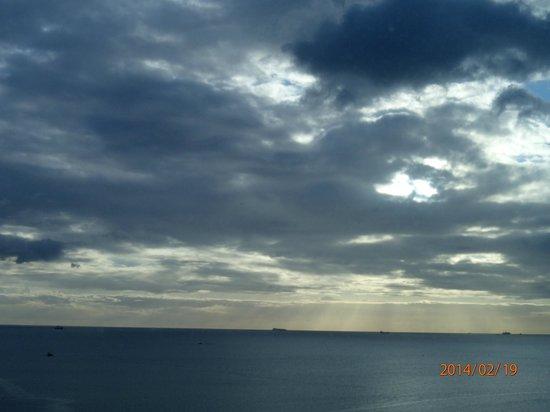 Hyatt Regency Trinidad : evening view from the hotel room