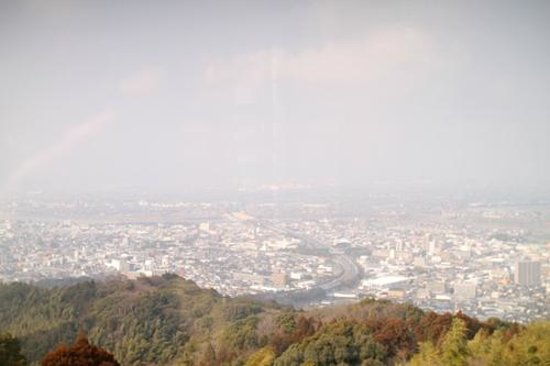 自転車の 福岡市 ゴミ 自転車 : 耳納連山, 高良神社展望台から ...