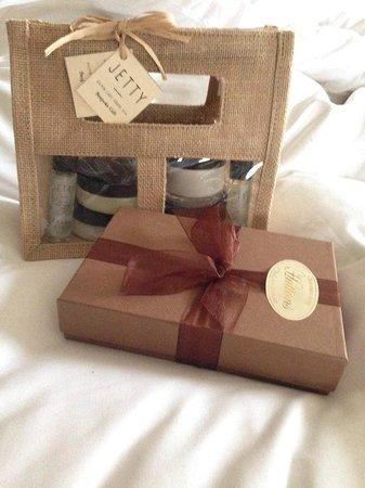 Gilpin Hotel & Lake House: Hand-made chocolates and bespoke spa gift set to take away