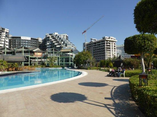 Limak Lara De Luxe Hotel&Resort: Outdoor Pool, with next door building works (not noticeable)