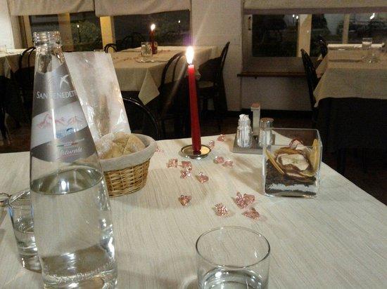 Hotel Tevere: Cenetta romantica.