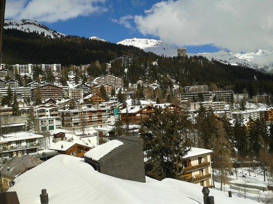 Helvetia Intergolf - Hotel & Apparthotel : Vue exceptionnelle sur la station de Montana