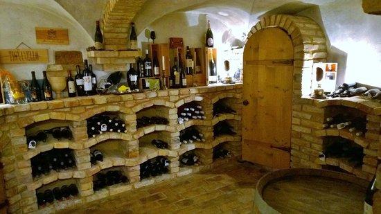 Hotel Diana: The hotel's plentiful wine cellar.
