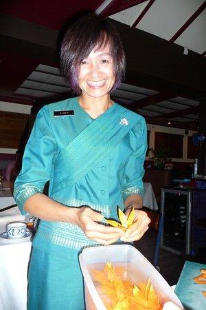 Blue Elephant Thai Restaurant: Karen die Gastgeberin