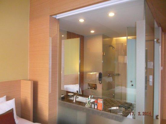 Radha Regent Bengaluru: Bathroom view from the room