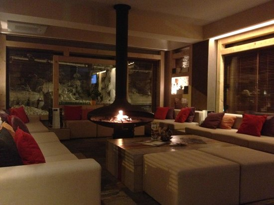 Ioana Hotel: In the lobby, in the winter