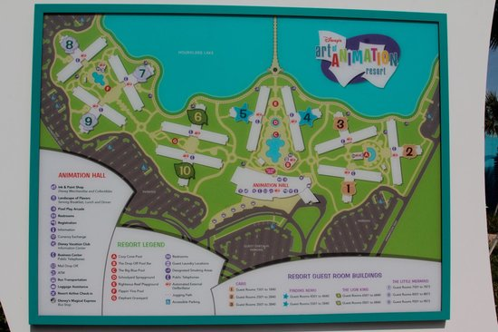 Resort Map  Picture of Disneys Art of Animation Resort