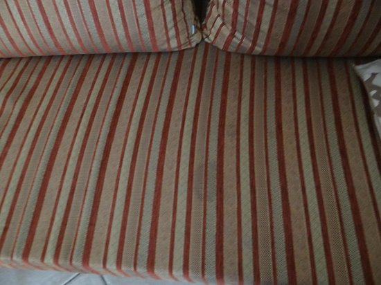 Leonardo Suite Tel-Aviv Bat-Yam : Stained couch in the room