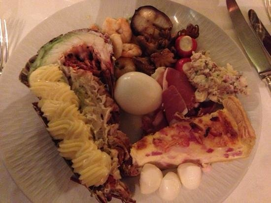 Hotel Christiania : a small portion of the appetizer buffet