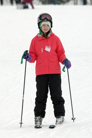 Winterplace Ski Resort: My daughter's first time on skiies!