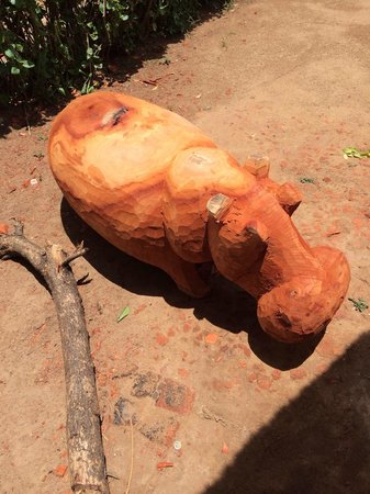 Kabwata Cultural Village: Hippo in progress