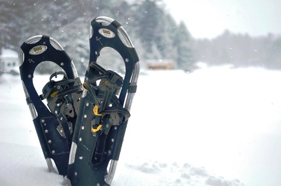 Sherwood Inn : Snowshoeing on Lake Joseph