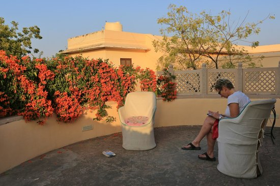 Royal Heritage Haveli: Terrace outside our room
