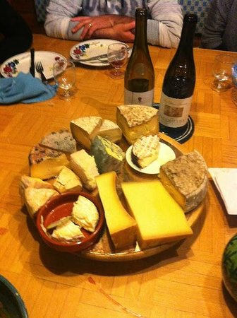 Hotel Pension Clairevie: plateau de fromages