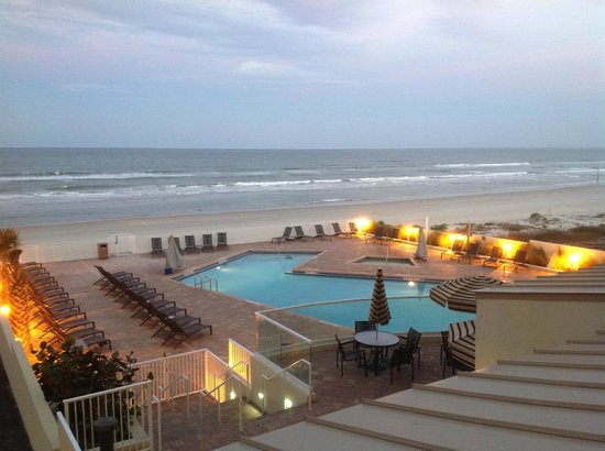 street view of the hotel picture of hyatt place daytona. Black Bedroom Furniture Sets. Home Design Ideas