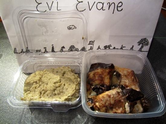 Evi Evane: Eggplant caviar and rolled eggplant with feta