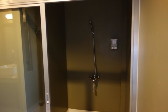 King Grand Boutique Hotel : Massive shower room
