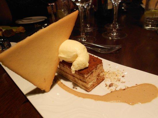Highlands Hotel at Macdonald Aviemore Resort: Tiramisu dessert at Aspects Restaurant