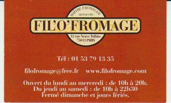 FILOFROMAGE Carte De Visite
