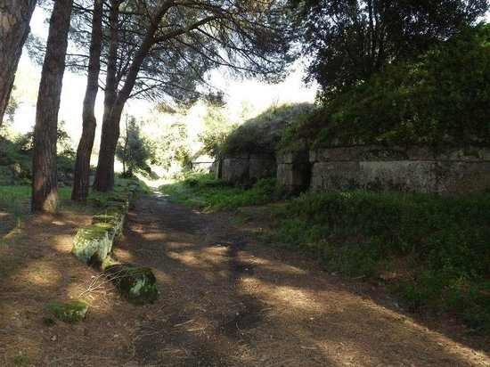 Necropoli della Banditaccia: sentiero con tombe