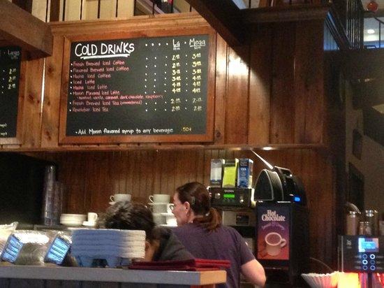 Hole In One : drinks menu