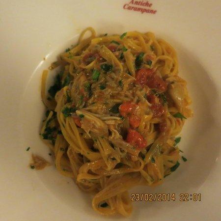 Antiche Carampane : Best spider crab pasta we found.. we only tried 2