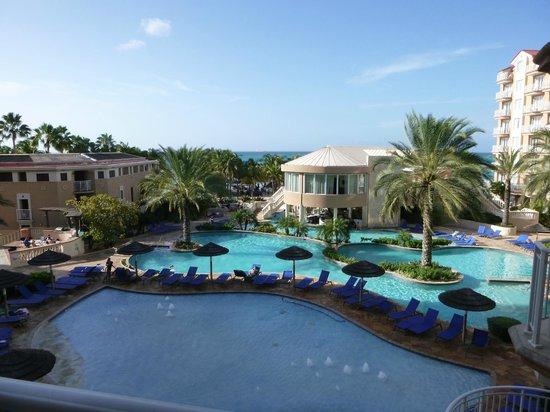 Divi Aruba Phoenix Beach Resort: View from our balcony