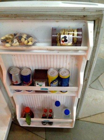 Hotel Laguna Anjuna: well stocked fridge