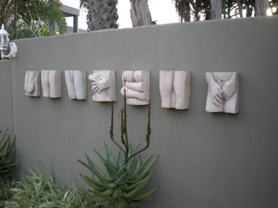 Kumbaya House : Outdoor Artwork by the Entrance way KH West Beach Cape Town