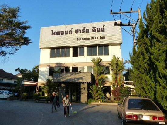 diamond park inn: la façade de l'hôtel