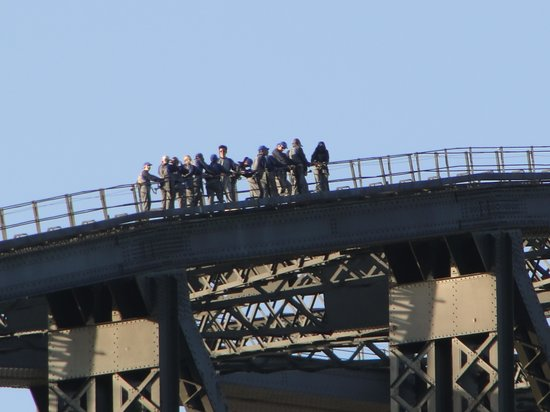 BridgeClimb: A group nears the top