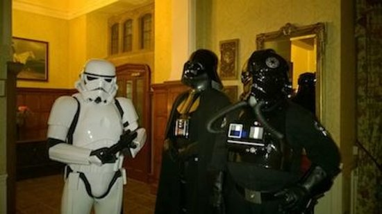 Redworth Hall Hotel: It's surprising that who you can bump into at reception.