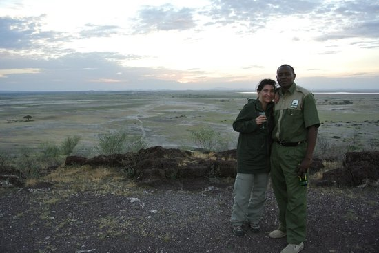 Tortilis Camp: My wife and our awesome guide!