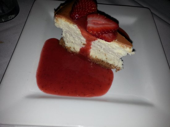 Kitchen On George: My husbands freshly made strawberry cheesecake....it nearly melted in your mouth!!! Incredible!!