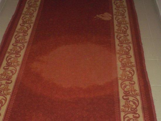 Houda Yasmine Hammamet: Stained carpet