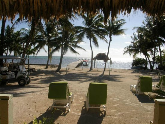 Caye Casa: View from romm #2.