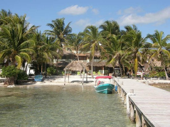 View from Caye Casa Pier
