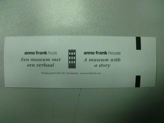 Anne Frank House: Entrada