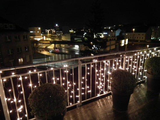 City Partner Top Hotel Kraemer: UItzicht op de stad met kerst inclusief verlicht terras