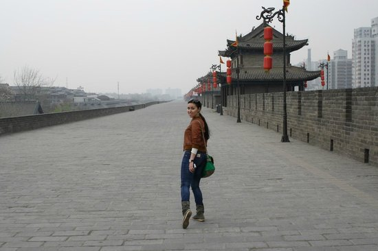 Muralla de Xi'an: в другую сторону КИТАЙЦЕВ НЕТ