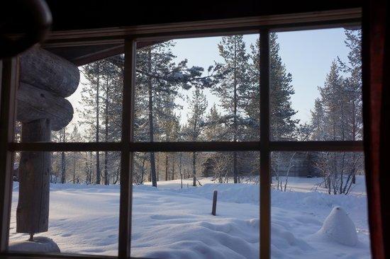 Kakslauttanen Arctic Resort : The view from the bedroom