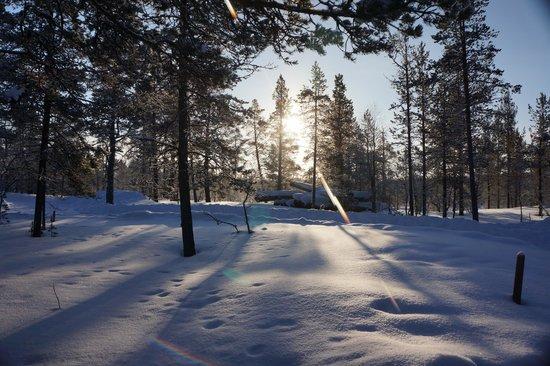 Kakslauttanen Arctic Resort : Outside our cabin number 25
