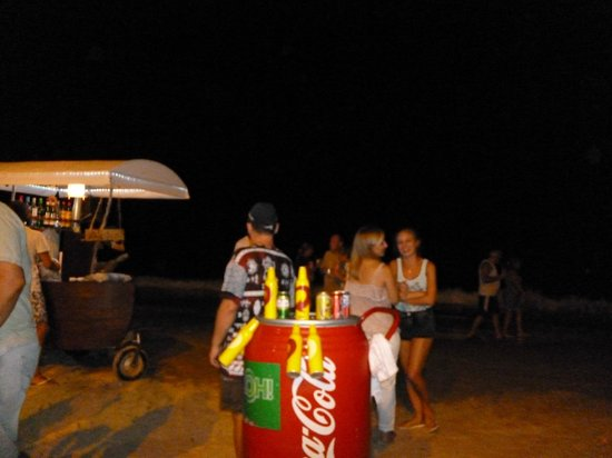 Canasvieiras: Playa de noche