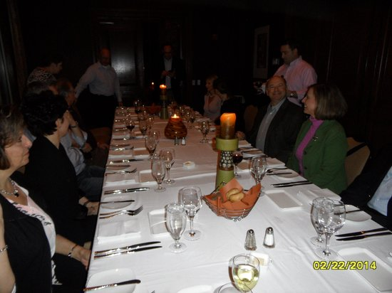 Lansdowne Resort and Spa: Dinner in private dining room of the Crooked Billet restaurant