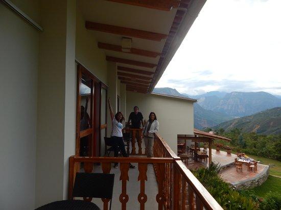Gocta Andes Lodge : Todas las habitaciones tienen balcón.
